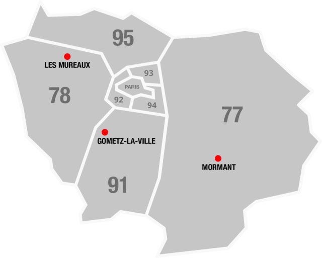 Carte des implantation Bouchard Manutention